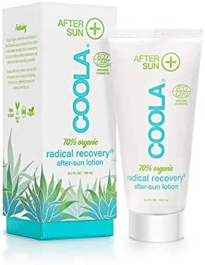 COOLA Organic Rapid Recovery After-Sun Lotion, Certified Organic, Vegan, Non-GMO, Natural Anti-Aging, Soothing, Sunburn Relief and Repair with Aloe Vera, Antioxidant Rich