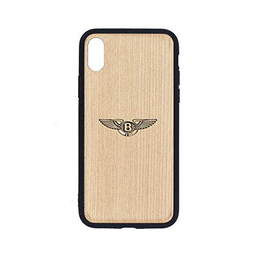 Logo Bentley Motors - iPhone Xs MAX Case - Maple Premium Slim & Lightweight Traveler Wooden Protective Phone Case - Unique, Stylish & Eco-Friendly - Designed for iPhone Xs MAX