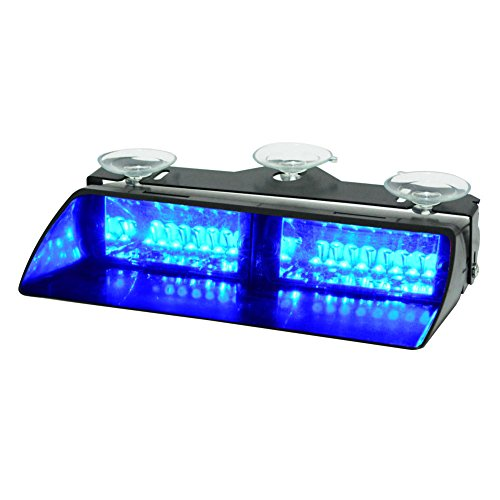 WOWTOU Emergency Strobe Dash Light 16W Bright Blue LED with 18 Flash Patterns for Volunteer Firefighter EMT EMS POV Police Hazard Warning Cars