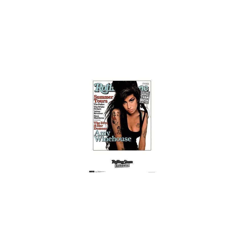 Amy Winehouse (Rolling Stone Cover) Music Poster  24x36 custom fit with RichAndFramous Black 24 inch Poster Hangers