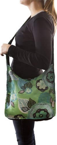 ChicoBag Sidekick Cross-Body Reusable Shopping Tote/Grocery Bag with Pouch, Aqua Dreams, 14 x 13.5-Inch Bag/4 x 2-Inch Pouch