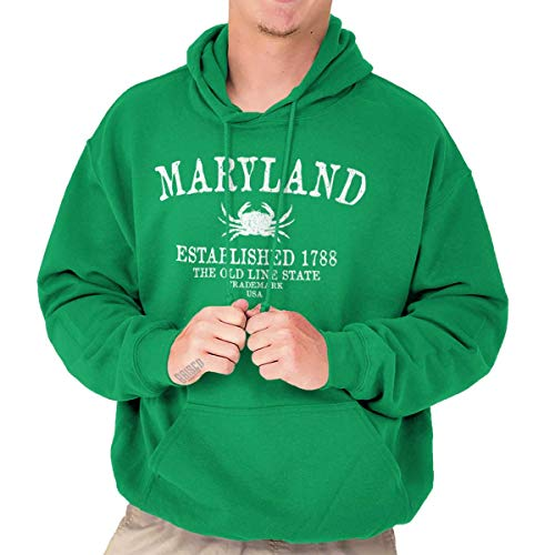 Classic Teaze Maryland State - Trademark Printed Hooded Sweatshirt -