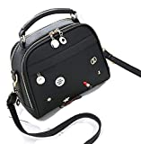 Vismiintrend Women's Cosmetic Love Black Sling Bag