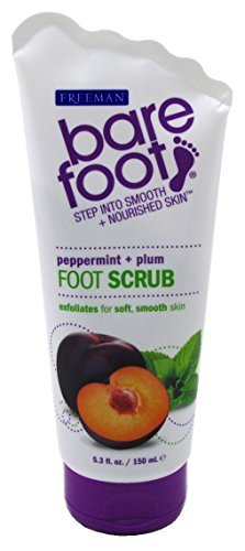 (Freeman Bare Foot Exfoliating foot scrub Peppermint and Plum 5.3 oz (Packs of 3))