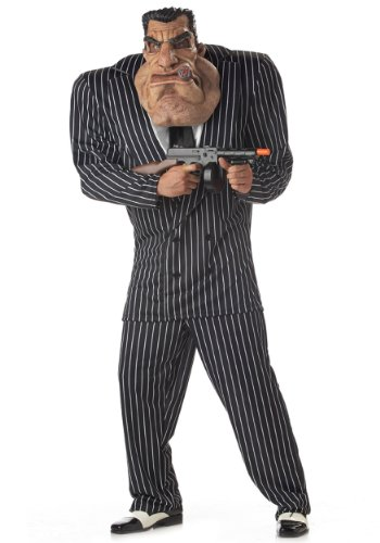 Coolest Halloween Costumes For Adults (California Costumes Men's Adult-Massive Mobster, Black, L (42-44))