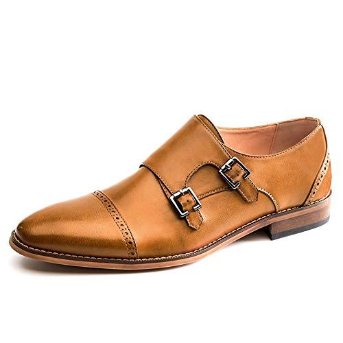 (Men's Oxfords Monk Strap Loafer Dress Shoes(10(D,M) US,Black))