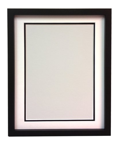 RIO Black Photo Picture Frame with White and Black Double Mount 20 ...