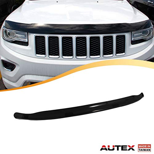 AUTEX Hood Shields Bug Deflector Compatible with Jeep Grand Cherokee 2011 2012 2013 2014 2015 2016 2017 2018 Hood Protector Deflector