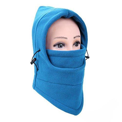(Unisex Warm Balaclava Helmet, 6 in 1 Outdoor Ski Masks Bike Cyling Beanies Winter Wind Stopper Face Hats (F))