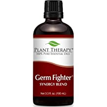 Germ Fighter Synergy Essential Oil Blend. 100 ml. 100% Pure, Undiluted, Therapeutic Grade. (Blend of: Lemon, Clove Bud, Cinnamon Bark, Eucalyptus, and Rosemary)