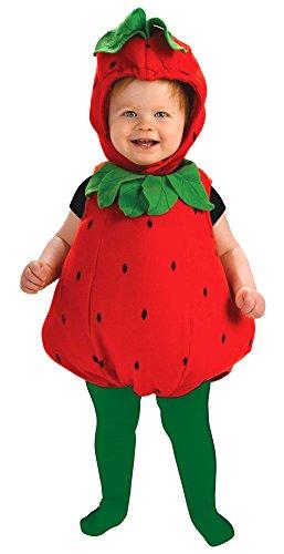 Rubie's Newborn Deluxe Berry Cute Costume, Red/Green, Infant -