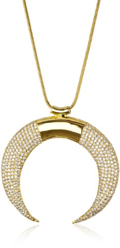 nOir Jewelry Gold Claw Pave Pendant Necklace