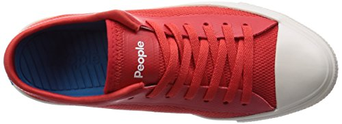 People Footwear Mens Phillips 3D Printed Mesh Fashion Sneakers Supreme Red / Picket White hRE2n