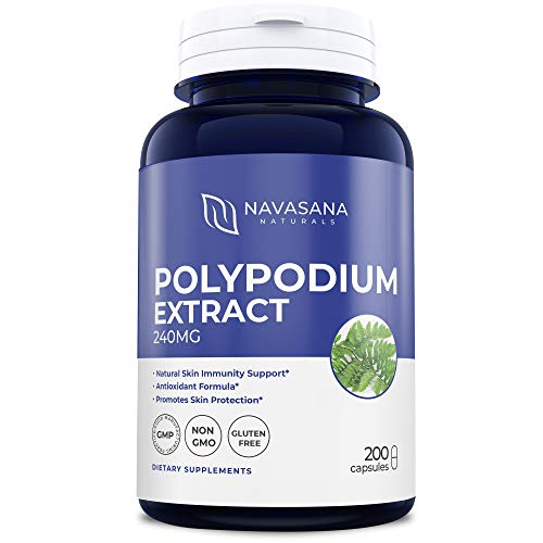 - Polypodium Leucotomos Extract 240mg 200 Capsules (Non-GMO & Gluten Free) Super Antioxidant, Natural Skin Care Supplement, Made in The USA