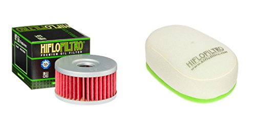 Oil and Dual-Stage Foam Air filter Kit for SUZUKI DR350 L,M,N,P,R,S,T,V 90-98 HIFLO FILTRO