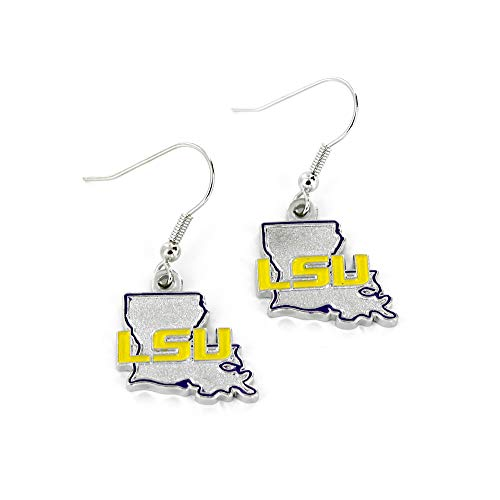NCAA LSU Tigers Home State Earrings (Lsu Tigers Home Accessories)