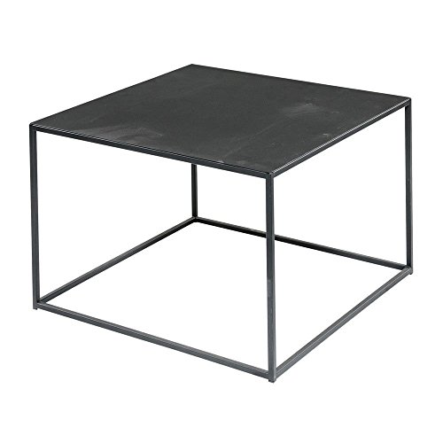 Black Steel Square Coffee Table – 24 inches