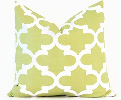 Euro pillow canal green Pillow Cover. large bed Throw Pillow. Fynn, qua-trefoil, trellis, pattern Toss Pillows. square Cushion. Bed dorm. Pillow Cover. Pillow Sham 26