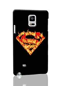 Superman Pattern Hard Durable 3D Cover Rough Skin Case for Samsung Galaxy N4 Note 4 Kimberly Kurzendoerfer