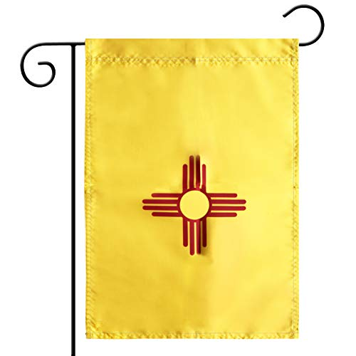 Garden Flag New Mexico State Garden Flag,Garden Decoration Flag,Indoor and Outdoor Flags,Celebration Parade Flags,New Mexico State Party Event Decorations,Double-Sided.
