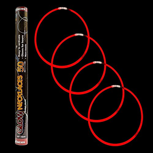 Fun Central J1 100ct 22 Inch Premium Glow Stick Necklaces, Cool Glow Sticks - for Glow in the Dark Party, Rave Party, Disco Party, Concert, Festivals, Birthday, Party Favors, (22 Premium Glow Necklaces)