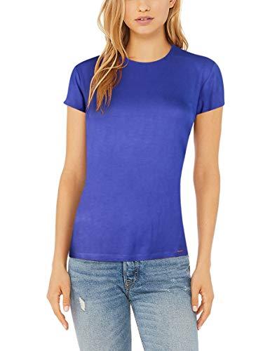 - SKY HOPE Women's Summer Viscose Short Sleeve O Neck Light Ultra Soft T-Shirt (Blue, XX-Large)