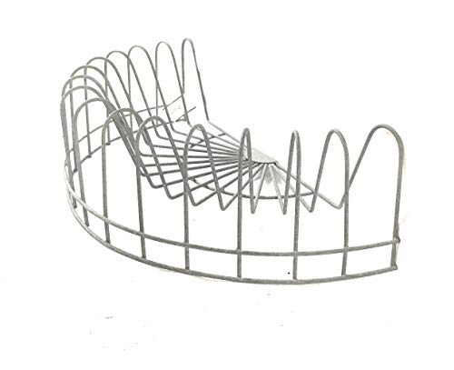 CTW Home Collection Vintage Style Rustic Wire Dish Rack, Plate Display, File Holder, Mail caddy, Card Holder,Gray,16