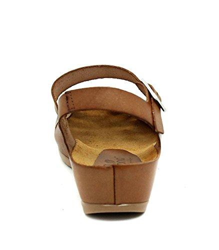 Marron Pour Sandales Peau Femme Marron Yokono BIzSaa