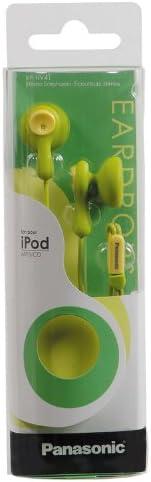 Best Seller Panasonic RP-HV41-G Eardrops Stereo Earbud Style Earphones, Light Green/Yellow (Discontinued by Manufacturer) Light Green/Yellow qdbBnng