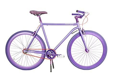 Martone Cycling Co. Men's La Rola Bicycle 52 Diamond Frame, Purple, 52cm/One Size