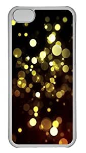 Abstract Golden Bokeh Custom ipod touch4 Case Cover Polycarbonate Transparent