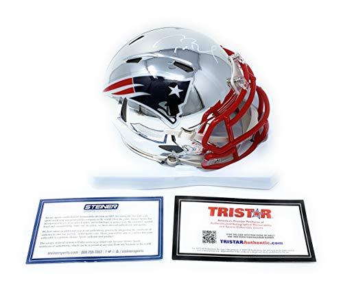 Tom Brady New England Patriots Signed Autograph Speed CHROME Mini Helmet #2 Tristar Authentic & Steiner Sports Certified (Tom Brady Mini Helmet)