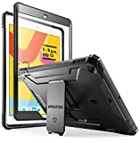 iPad 10.2 2019 Case - Poetic Full-Body Heavy Duty Shockproof Protective Cover with Kickstand - Built-in Screen Protector - Revolution - for Apple iPad 10.2 (2019 Release) - Black
