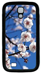 Samsung Galaxy S4 I9500 Case and Cover -White Plum TPU Silicone Rubber Case Cover for Samsung Galaxy S4 I9500¨CBlack