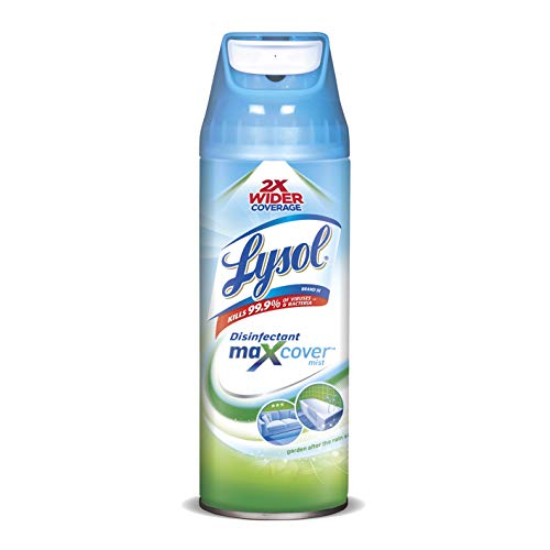 Lysol Max Cover Disinfectant Mist, Garden After Rain, 12.5oz, 2X Wider Coverage
