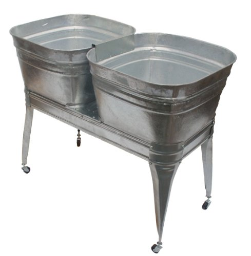Twin wash tub with stand and (Double Wash Sink)