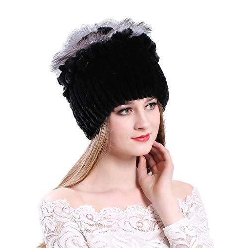 Salvaje Cabello Juvenil Invierno Mujer Moda Cálido Negro Otoño Tendencia Sombrero Casual UwXBIR