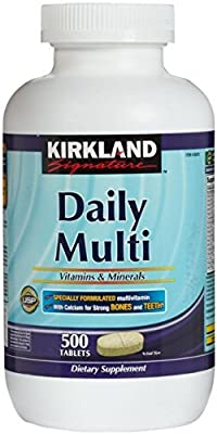 Kirkland Signature Daily Multi Vitamins & Minerals Tablets, 500-Count Bottle