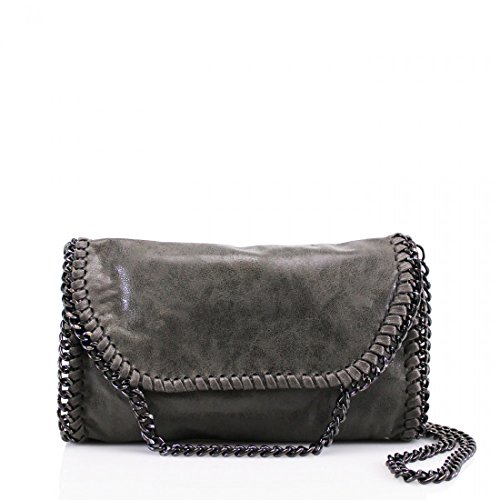 Bag Shoulder Chain Dark bag Grey Womens Detail Designer New Cross YDezire® Body Work Ladies nY7Cw