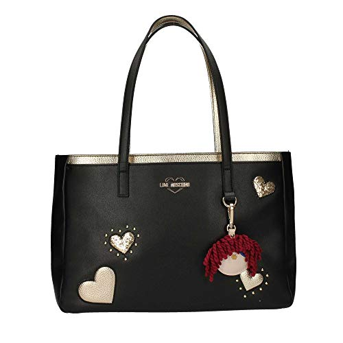 Jc4055pp17 Femme nero Noir Shopper Moschino Love z0xH5t