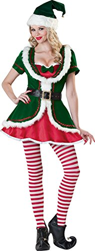 lf Deluxe Sexy Santa Costume Adult Christmas Outfits Cosplay Suit Clothing Green Medium ()