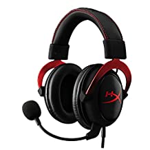 HyperX Cloud II Audífonos para gaming, Color Rojo, 7.1 Surround Sound, compatible con PC, PS4, PS4 PRO, Xbox One, Xbox One S (KHX-HSCP-RD)