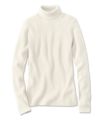 Orvis Women's Ribbed Cotton-blend Turtleneck, Snow, X Large (Orvis Cotton Cardigan)
