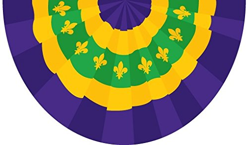 Quality Standard Flags Mardi Gras Bunting Polyester Flag, 3 by (Mardi Gras Bunting)