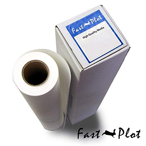 FastPlot Self Adhesive Vinyl Waterproof 4mil - 24'' x 60Ft by FastPlot
