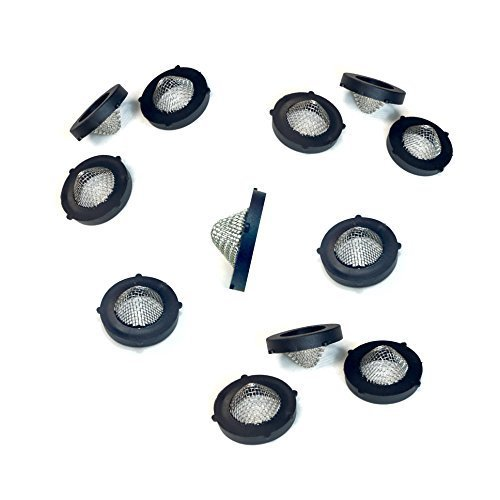 - (12 Count) Gilmour 02FW Metal Hose Coupling Filter Washers