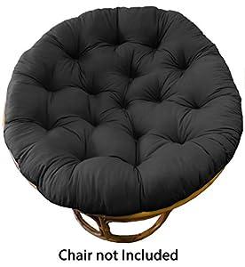 Cotton Craft Papasan Chair Cushion Black Pure 100 Cotton Duck F