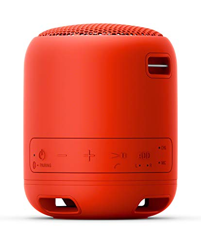 Sony SRS-XB12 Extra Bass Portable Bluetooth Speaker (Red) with Hardshell Carrying Case Bundle