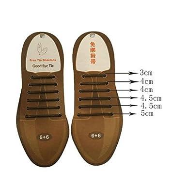 QIINGTIAN - Cordones elásticos para zapatos de hombre, sin corbata ...