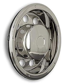 Tapacubos 22,5 pulgadas - Llanta - Revestimiento - para camiones (de acero inoxidable): Amazon.es: Coche y moto